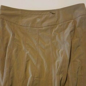 ATHLETA  KHAKI HIKING WHATEVER SPORT SKIRT SZ 4